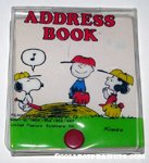 Snoopy, Charlie Brown & Lucy on pitcher's mound Address Book