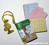 Snoopy & Woodstock under tree Mini Telephone Book