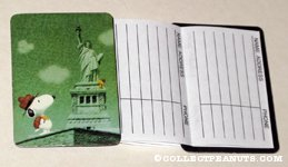 Beaglescout Snoopy & Woodstock at the Statue of Liberty Address Book