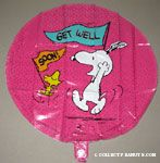 Snoopy and Woodstock dancing 'Get Well Soon' Mylar Balloon