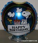 Snoopy & Woodstock ' Happy Birthday' Mylar Balloon Centerpiece