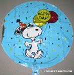 Snoopy dancing holding balloons 'Happy Birthday' Mylar Balloon