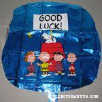 Peanuts Gang around doghouse 'Good Luck' Mylar Balloon