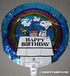 Snoopy & Woodstock with cake 'Happy Birthday' Mylar Balloon