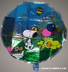 Snoopy & Woodstock at carnival fair Clear Mylar Balloon