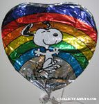 Snoopy Dancing by Rainbow