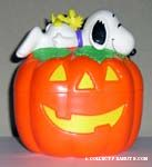 Snoopy and Woodstock on Pumpkin