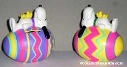 Snoopy and Woodstock on Striped Egg