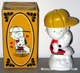 Snoopy hugging Charlie Brown Non-Tear Shampoo Bottle