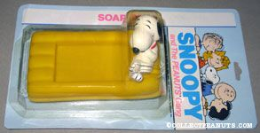 Snoopy laying on yellow raft Soap Dish