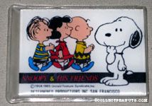 Peanuts Gang walking Compact Credit Card Mirror with pouch