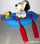 Snoopy & Woodstock in row boat Tub Toy