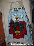 Snoopy & Woodstock laying on Doghouse in snow Christmas Vinyl Shower Curtain
