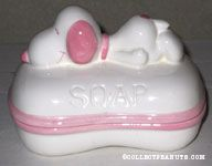 Pink Snoopy Two-piece Soap Dish