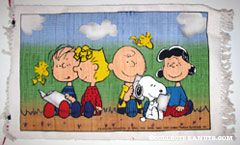 Peanuts Gang reading books Rug
