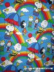 Peanuts Gang scenes with Rainbows & Balloons Bedspread