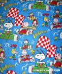 Peanuts Gang in racecars Bedspread