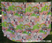 Belle and the Peanuts Gang Pink Bedspread