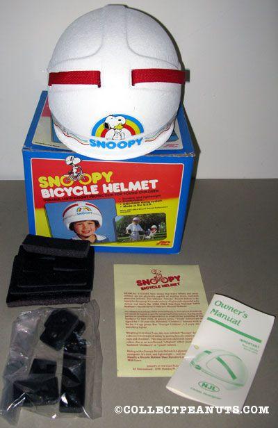 Snoopy hugging Woodstock with rainbow Styrofoam Bicycle Helmet
