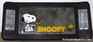 Snoopy holding mirror with Woodstock Car Visor Mirror with lights