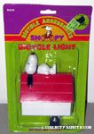 Snoopy laying on doghouse Bicycle Light
