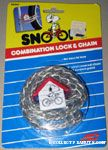 Snoopy riding bike Clear Combination Lock & Chain