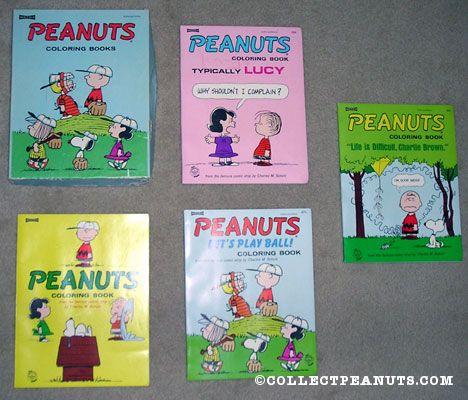 Peanuts Saalfield & Artcraft Coloring Books | CollectPeanuts.com