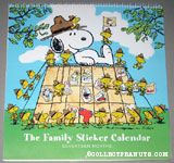 Snoopy & Beaglescouts Family Sticker Calendar