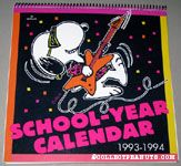 Rocker Snoopy Jamming 1993-1994 School-Year Calendar