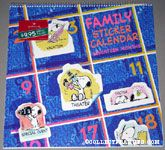 Snoopy stickers on Calendar Family Sticker Calendar