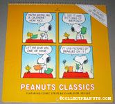 Snoopy & Woodstock trading calendars cartoon Peanuts Classics Calendar 1990