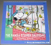 Snoopy & Woodstocks pasting up stickers Family Sticker Calendar