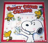 Snoopy & Woodstocks with Stickers Family Sticker Calendar