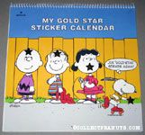 Snoopy skating 'Joe Gold Star strikes again' My Gold Star Sticker Calendar 1989