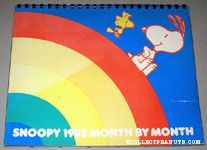 Snoopy & Woodstock on Rainbow 1982 Month by Month Calendar