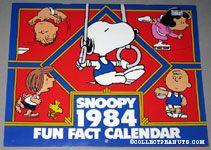 Peanuts Gang Olympians 1984 Fun Fact Calendar