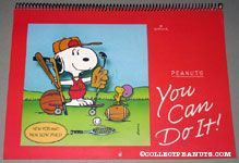 Snoopy & Woodstock with sporting equipment 'You Can do it' 1986 Calendar