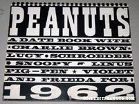 Peanuts 1962 Datebook
