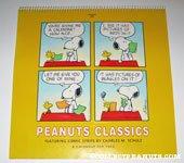 Snoopy & Woodstock trading calendars cartoon Peanuts Classics Calendar 1992