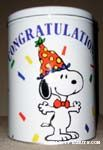 Snoopy with Party Hat Tin Canister