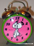 Snoopy Dancing Alarm Clock - Pink & Green