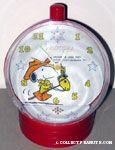 Cowboy Snoopy riding  stick horse Alarm Clock
