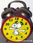 Snoopy Dancing Alarm Clock - Red & Yellow