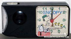 Snoopy & Woodstocks around camp fire Light Clock