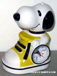 Snoopy in sneaker Alarm Clock - Yellow & Black