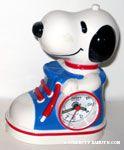 Snoopy in sneaker Alarm Clock - Red & Blue