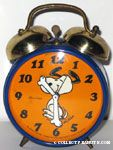 Snoopy Dancing Alarm Clock - Orange & Blue