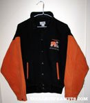 Snoopy driving Zamboni 'Snoopy's Senior World Hockey Tournament' Orange & Black Jacket