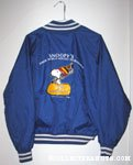 Snoopy holding hockey stick & bag 'Snoopy's Senior World Hockey Tournament 10th Anniversary' Blue Jacket