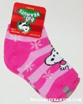 Snoopy striped kids socks